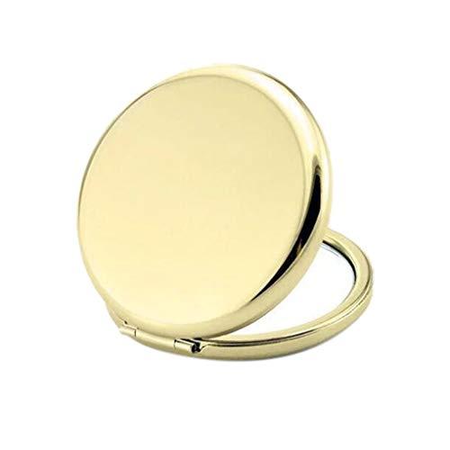Timlatte Miroir de Maquillage de Couleur Solide en métal Ronde Double-Side Pop-Up Portable Pocket Mirror Accessoires Beauté