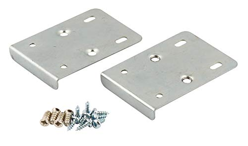 Reparaturset für Küchenschrank-Scharniere, enthält 2 Platten und Befestigungsschrauben, silberfarben