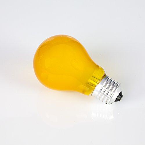 showking Farbleuchtmittel A19 230V / 25W / Sockel E - 27 / gelb/Partybeleuchtung - farbige Glühbirne
