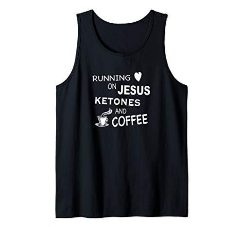 Running on Jesus, Ketones, and Coffee - Sugar Free Mom Tank Top