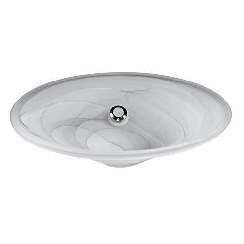 budawi- Brunnenschale/Glasschale (weiß matt) Ø 25 cm Nebler - Alabaster Schale Zimmerbrunnen