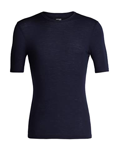 Icebreaker Herren 175 Everyday SS Crewe Merino Baselayer Top T-Shirt, Midnight Navy, M