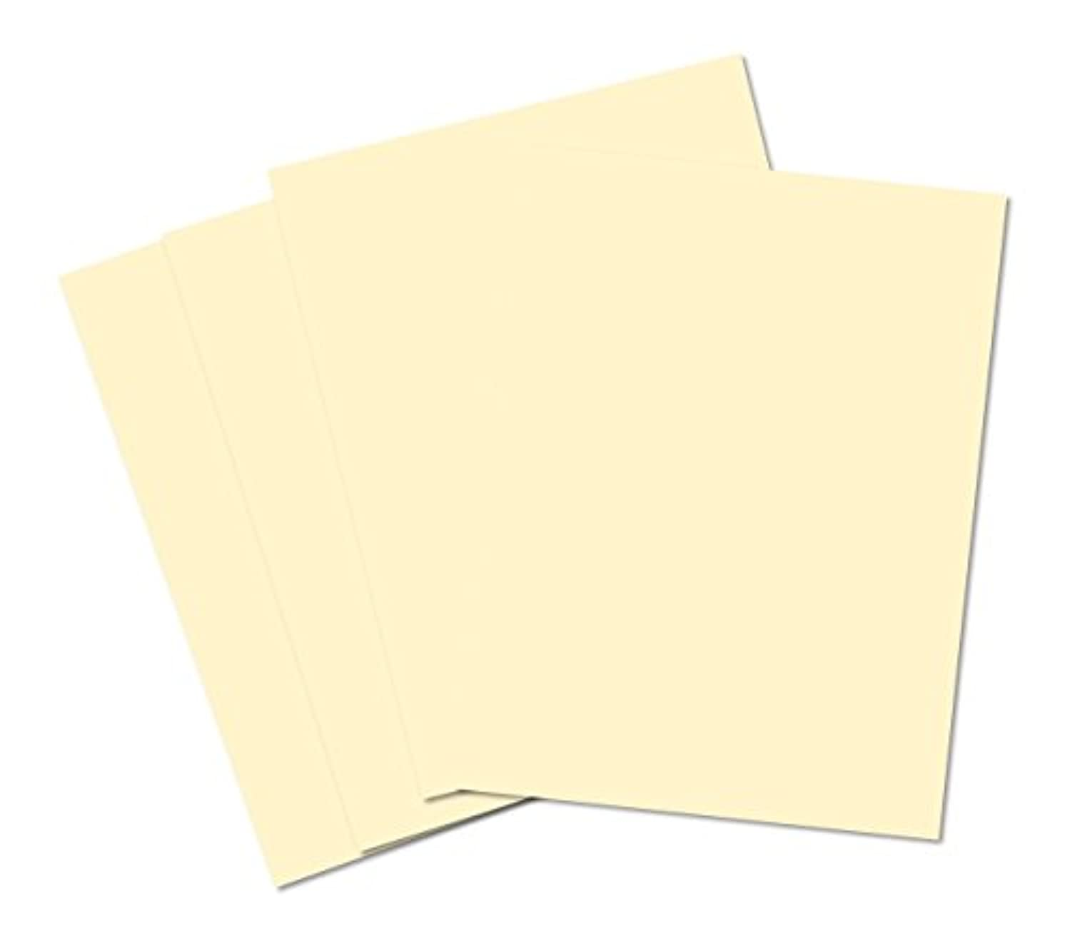 House of Card & Paper A2 220 gsm Coloured Card - Cream (Pack of 50 Sheets)