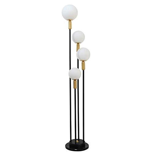 CLJ-LJ Lámpara de pie moderna bola de vidrio sala de estar lámpara de noche creativa tira led lámpara de pie de la lámpara de iluminación interior