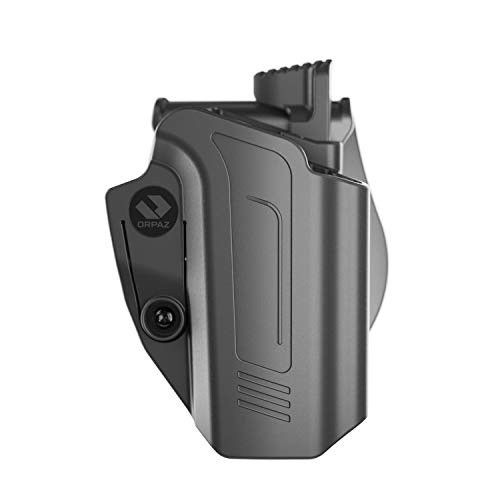 Orpaz CZ P10C Holster and CZ P10F Holster, Right-Hand Modular OWB Holster (Level II Retention, Paddle Holster)
