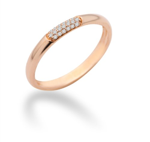 Miore Damen-Ring Memoire 9 Karat (375) Rotgold mit Brillanten 0.06ct Gr. 58 MF9008RRR