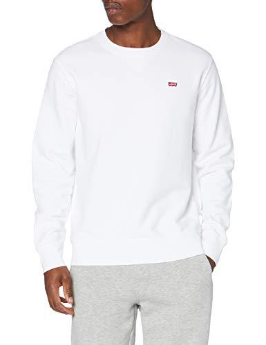 Levi\'s Herren Crew Sweatshirt, White, XL