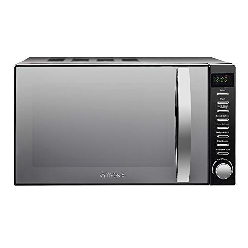 VYTRONIX VY-HMO800 Digital Microwave Oven 800W 20L 5 Power Levels Freestanding Solo Black