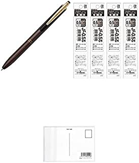 ゼブラ サラサグランド 0.5mm ブラウングレー ジェルボールペン P-JJ56-VEG 【替芯 4本付】+ 画材屋ドットコム ポストカードA