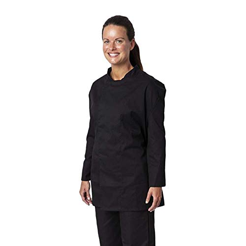 Whites Chefs Clothing BB577-S - Chaqueta de chef unisex con revestimiento de teflón Atlanta, talla S, tamaño de pecho 92 cm-97 cm, color negro