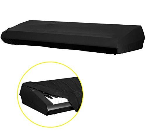 Voarge afdekking voor pianotoetsen, met verstelbare, elastische koord en vergrendeling, voor 88 toetsen-toetsenbord, stofdichte afdekking Key Cover Protector