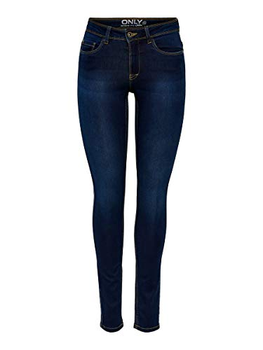 ONLY Damen Skinny Jeans 15077791/SKINNY SOFT ULTIMATE 201, Blau (Dark Blue Denim), Gr. M/L30 (M)