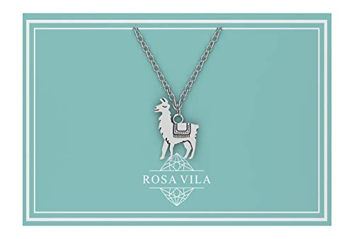 Rosa Vila Llama Necklace, Llama Gifts, Be Llamazing, Llama Stuff For Women, Alpaca Gifts, Mama Llama Gift Pendant, Alpaca Necklaces, Llama Jewelry For Women
