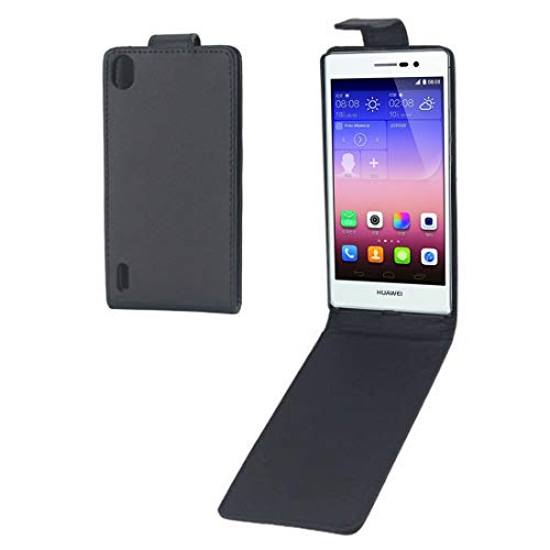 Fantastic Prices! XIXI Home Vertical Flip Leather Case for Huawei Ascend P7(Black) Shockproof