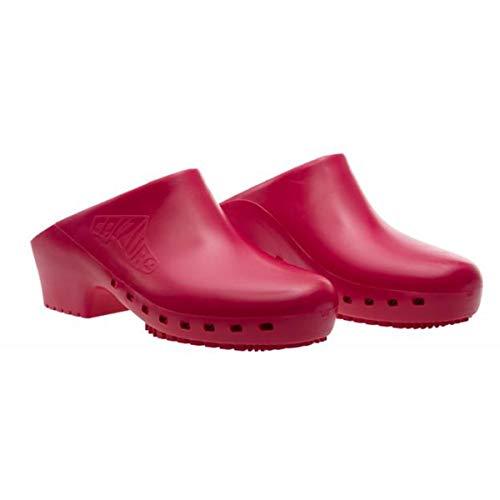 Zuecos sanitarios calzado Classic S sin agujeros profesionales CE - 36-37 - Granate