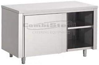 Armoire Inox Basse Avec Renfort - Gamme 800 - Combisteel - 2600x800 Coulissante