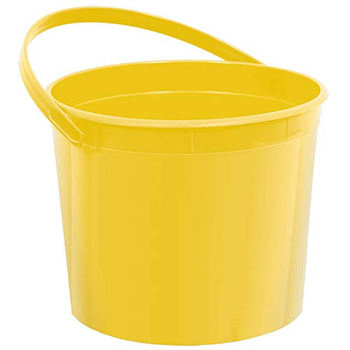 Plastic Bucket | Yellow Sunshine | Party Accessory