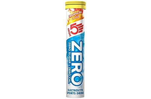 HIGH5 ZERO Tropical, 20 StŸck Packung fuer 15l zuckerfreies Iso-GetrŠnk, Isotonisches GetrŠnk mit wichtigen Mineralstoffen, Geschmack Tropical, Ananas, gegen Krampf vorbeugend