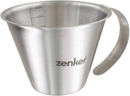 Zenker 44991 Krug mit Skala, 250 ml, Edelstahl