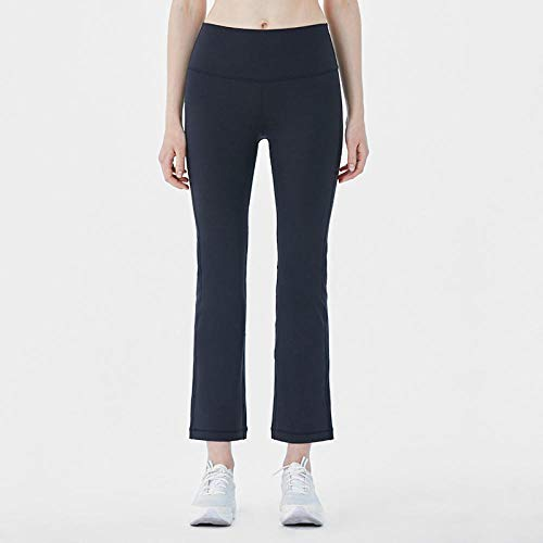 Rrui Sportswear panty & leggings voor dames panty voor dames sport dubbelzijdige yoga broek met wijde pijp nieuwe brokaat lycra Yoga pak broek vrouwen grijs L