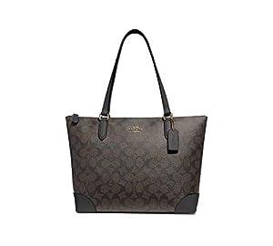 Coach Signature Zip Tote Shoulder Handbag