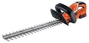 Black Decker GTC1845L20-QW GTC1845L20 18 V Heckenschere/Strauchschere (45 cm Messerlänge, 18 mm Schnittstärke), inkl. Lithium-Akku und Ladegerät, Schwarz, Orange