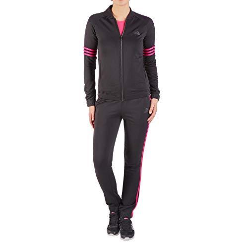 adidas Performance adidas CY3515 Damen Freizeitanzug mit Stehkragen elastischer Bund aus Polyester, Groesse 42K/44K, schwarz