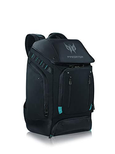 """Accesorios Acer Predator: mochila utilitaria para juegos (adecuada para todos los portátiles de 15.6 """"y 17.3"""", muchos compartimentos adicionales, acolchado estable y cómodo) negro"""