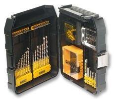 DeWalt Maxisafe-Zubehörkoffer XL (63-tlg. Set, mit Extreme DeWalt Steinboher und Metallbohrer, Bits 25 mm, Bits 50 mm und Magnet-Bithalter) DT9281
