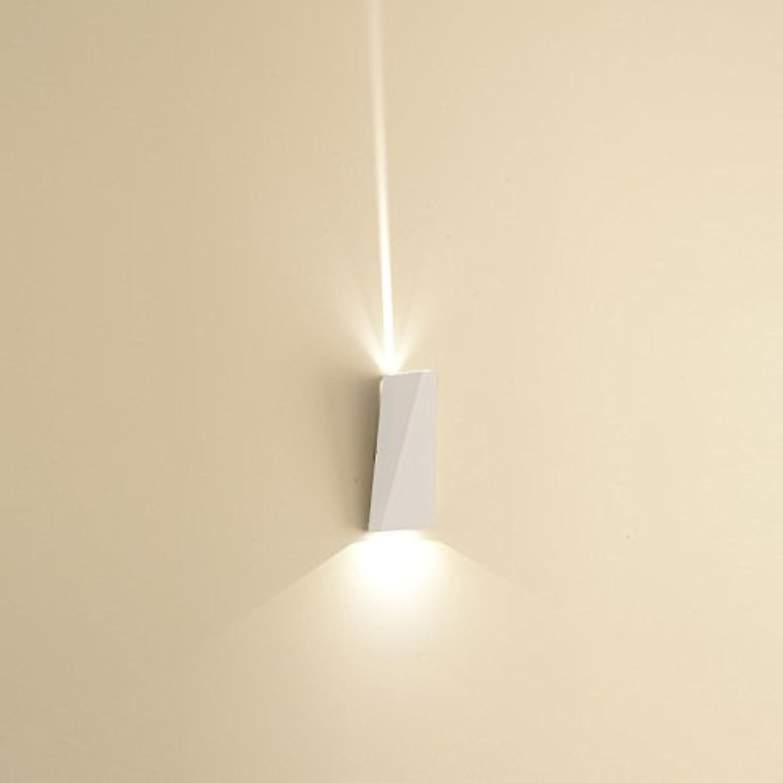 JINSH Home Geführte Wohnzimmer Schlafzimmer Wand Lampe Korridor Gang Treppe Licht Hotel im Freien Wasserdichte Aluminium Wandleuchte (Farbe   Weiß)