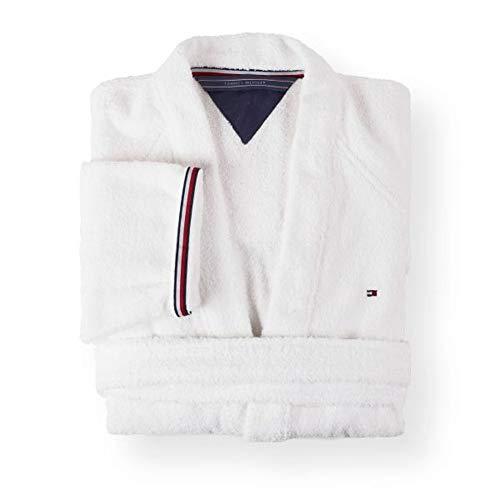 Tommy Hilfiger Kimono Uni Serie - Kimono (talla L), color blanco