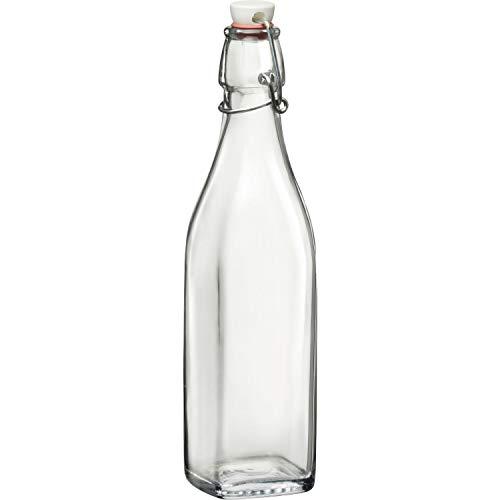 BORMIOLI ROCCO »Swing« fles met beugelsluiting, 4-kant, inhoud: 0,50 liter
