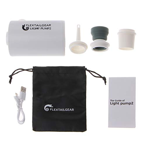 FATTERYU Mini Bomba de Aire Ligera a Prueba de Agua Carga USB para inflables Inflar rápidamente Desinflar
