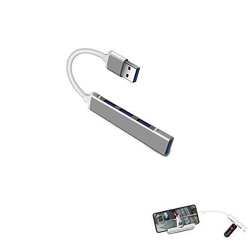 USB C HUB 3.0 Tipo C 3.1 - Adaptador de Divisor múltiple de 4 Puertos Adaptador de Cable de expansión OTG Ultra Speed Laptop PC (3.0, Gray)