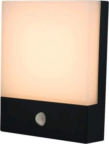 Heitronic LED Außenwandleuchte LED WANDLEUCHTE ENTRADA MIT BEWEGUNGSMELDER Grau | LEDs fest verbaut 8W | 35378