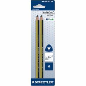 Staedtler 10 x Bleistift triplus Jumbo 2 Stück auf Blisterkarte