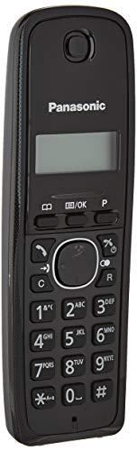 Panasonic KX-TG1611 - Teléfono ( DECT, 50 entradas, Identificador de Llamadas, Versión Importada) Color Negro [Versión Importada]