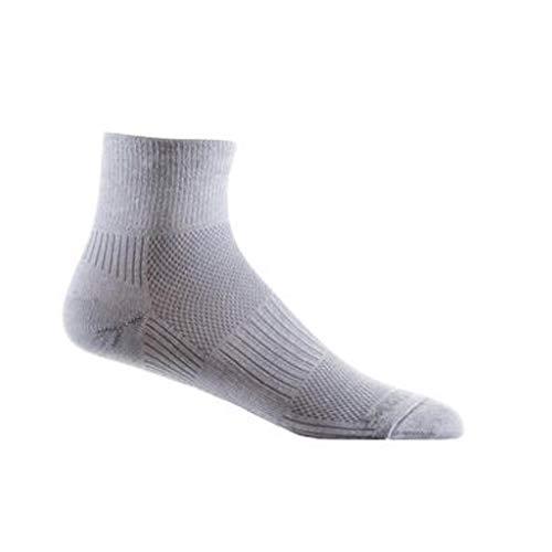 Wrightsock Coolmesh II Quarter Socke, Light Grey