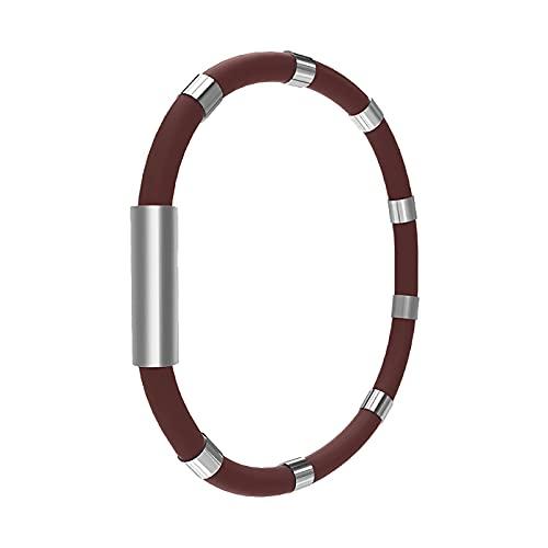HUANYINGNI Athletic Ion Balancing Bracelet, Negative Ion Energy Bracelet, 20cm Balance Energy Anti-Static Sports Silicone Bracelet 18CM E