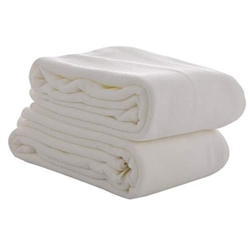 LASISZ 1pc Microfibra Washcloth Bath Towel Absorbent Drying Bath Beach Towel Swimwear Shower Face Washer Beauty Salon Bath Towels,White,70x140cm