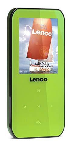 Lenco MP3-Player Xemio-655 4GB (4,6 cm (1,8 Zoll) TFT-Display, SD, Aufnahmefunktion, USB, Software und CD) grün