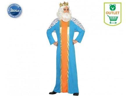 Atosa-30761 Disfraz Rey Mago Hombre Adulto-T, Color Azul, XL (30761)