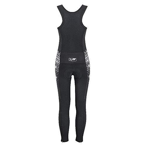 prolog cycling wear Damen Radhose Winter lang mit Träger und Sitzpolster, schwarz Größe XS, S, M, L, XL - 2