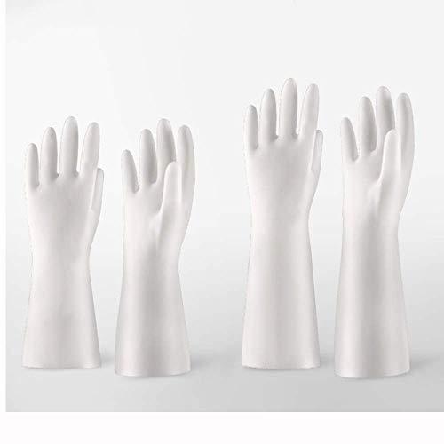 Medizinischer Einweg PVC Untersuchungshandschuh Film Kunststoff Transparent Haushalt Haushaltsreinigungsmittel (100 PiecesBox) (Farbe: Weiß, Stil: EIN Paar)