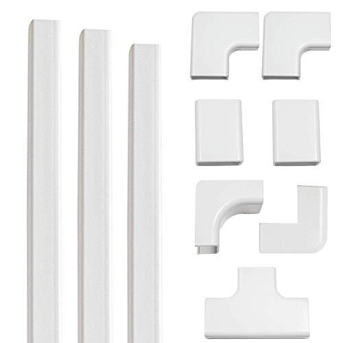 Echogear - Kit de canalización de cables en la pared para ocultar hasta 4 cables - La instalación fácil de pelar y pegar ayuda a ocultar y organizar los cables de televisores montados y otros
