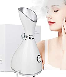 Nano Ionic Facial Steamer,Lumcrissy Steamer for Face,Ionic Hot Mist For Moisturizing,Unclogs Pores Clear Blackheads Acne Humidifier Home Personal Vaporizer Warm Mist Humidifier Steamer