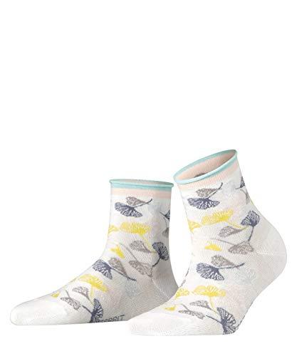 Esprit Damen Ginkgo Leaves W SSO Socken, Weiß (White 2000), 35-38 (UK 2.5-5 Ι US 5-7.5) (1er Pack)