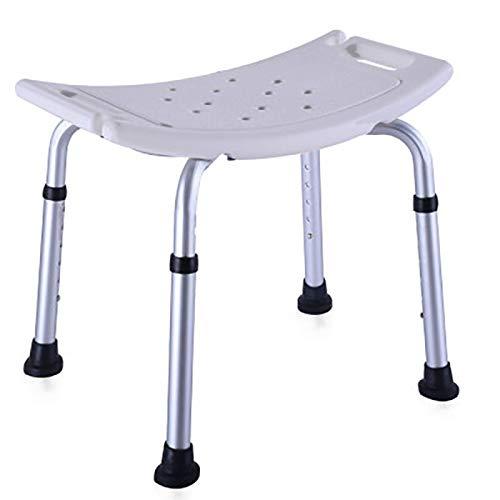 Sedia da Doccia Portatile per Bagno Sgabello Antiscivolo in Lega di Alluminio Sedia da Bagno Sedia da Doccia per Disabili per Donne Incinte Anziane Aiuti agli Anziani