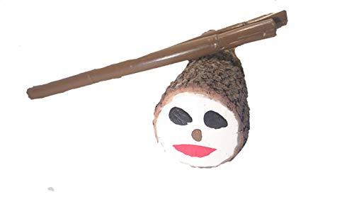 Caga Tió Tió de Nadal en madera natural Grande (40cm) + 2 bastones de 40 cm