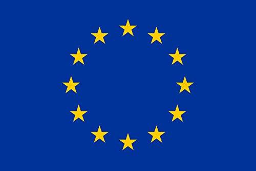 KiipFlag - Bandiera dell'Unione europea, colori vivaci, resistente ai raggi UV, intestazione in tela, doppia cucitura, in poliestere, 90 x 150 cm